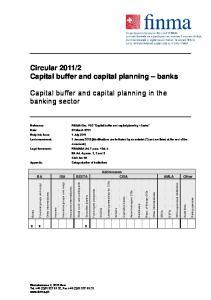 2 Capital buffer and capital planning banks. Capital buffer and capital planning in the banking sector
