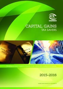 2 Capital Gains TAX SAVERS