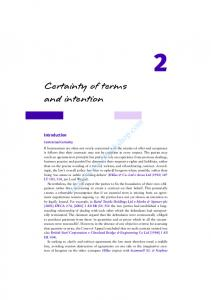 2 Certainty of terms and intention