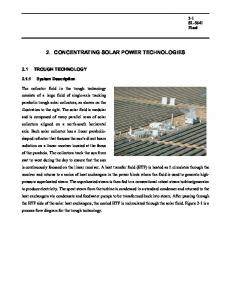 2. CONCENTRATING SOLAR POWER TECHNOLOGIES