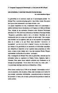 2 Congreso Uruguayo de Psicoterapia 1 y 2 de Junio de 2012 (Fupsi)
