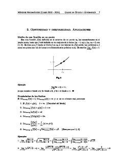 2. Continuidad y derivabilidad. Aplicaciones