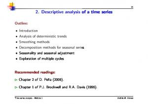 2. Descriptive analysis of a time series