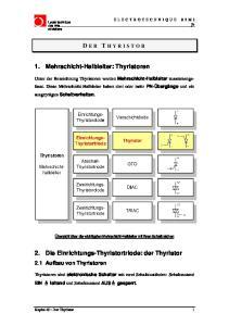 2. Die Einrichtungs-Thyristortriode: der Thyristor