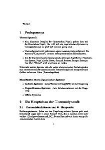 2 Die Hauptsätze der Thermodynamik