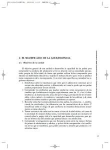 2. EL SIGNIFICADO DE LA ADOLESCENCIA