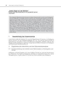 2 Ergebnisse der Interviews und der Dokumentenanalyse