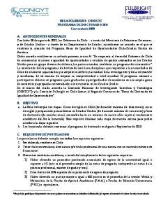 2 Es responsabilidad de los postulantes cumplir con los requisitos que establece el Departamento de Estado, para el otorgamiento de la visa J-2