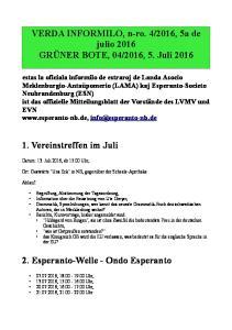 2. Esperanto-Welle - Ondo Esperanto