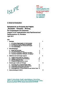 2. Externe Evaluation