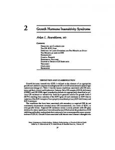 2 Growth Hormone Insensitivity Syndrome