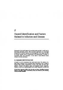 2 Hazard Identification and Factors Related to Infection and Disease