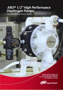 2 High Performance Diaphragm Pumps Non-Mettallic and Metallic Models