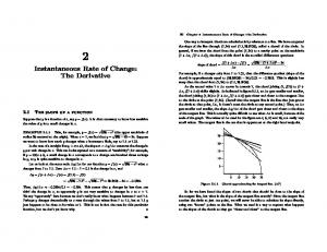 2 Instantaneous Rate of Change: The Derivative