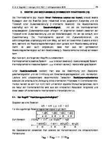 2. KINETIK UND MECHANISMUS CHEMISCHER REAKTIONEN (16)