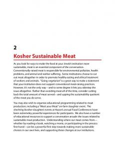 2 Kosher Sustainable Meat