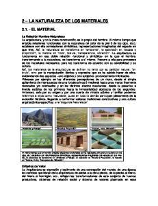 2 LA NATURALEZA DE LOS MATERIALES