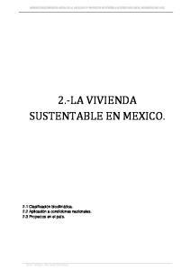 2. LA VIVIENDA SUSTENTABLE EN MEXICO