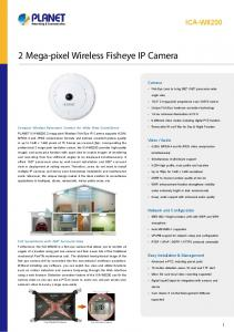 2 Mega-pixel Wireless Fisheye IP Camera