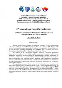 2 nd International Scientific Conference