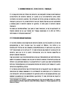 2. NORMATIVIDAD DEL DERECHO DEL TRABAJO
