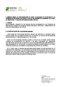 2.-OTROS REQUISITOS: a la firma de contrato: