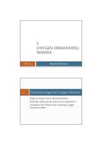 2 OXYGEN DEMANDING WASTES
