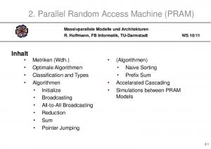 2. Parallel Random Access Machine (PRAM)