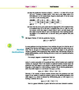 2 Partial Derivatives