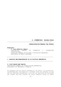 2. PONENCIAS. SEGUNDA PARTE ADMINISTRACIÓN GENERAL DEL ESTADO