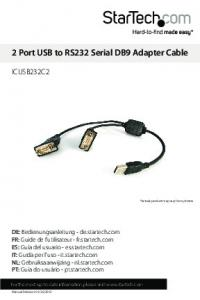 2 Port USB to RS232 Serial DB9 Adapter Cable