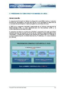 2. PROGRAMA DE GOBIERNO Y DESARROLLO LOCAL