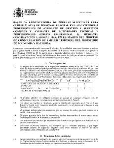 2. Requisitos de los candidatos