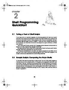2 Shell Programming QuickStart