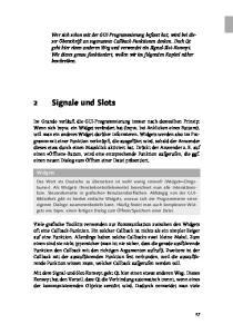 2 Signale und Slots. Widgets