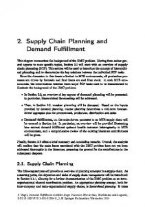 2. Supply Chain Planning and Demand Fulfillment
