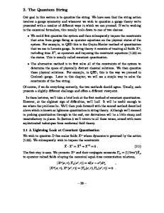 2. The Quantum String