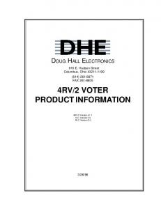 2 VOTER PRODUCT INFORMATION