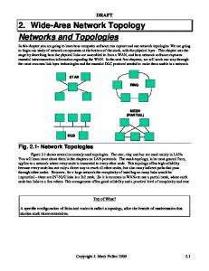 2. Wide-Area Network Topology Networks and Topologies