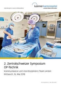 2. Zentralschweizer Symposium OP-Technik