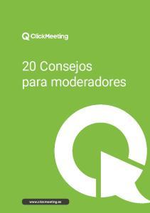 20 Consejos para moderadores