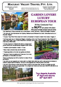 20 Day Conducted Tour