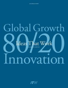 20. Ideas That Work. Innovation