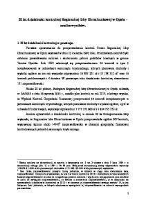20 lat działalności kontrolnej Regionalnej Izby Obrachunkowej w Opolu analiza wyników