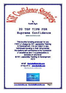 20 TOP TIPS FOR Supreme Confidence