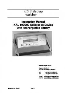200 Calibration Device with Rechargeable Battery
