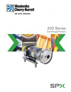 200 Series. Centrifugal Pumps