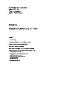 2000 BodenSchutzkalkung im Wald