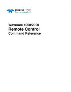 2000 Remote Control Command Reference