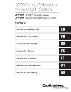 2000 Series Professional Wireless UHF System